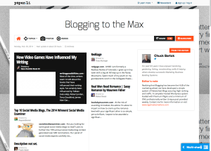 Blogging to the max